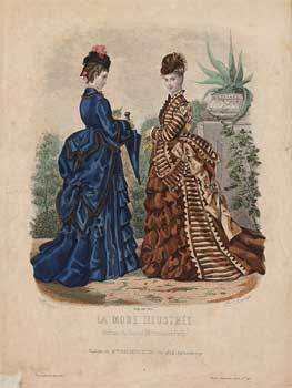 Figurín de La mode ilustrée, nº 48, 1873. Colección Museo del Traje, Madrid