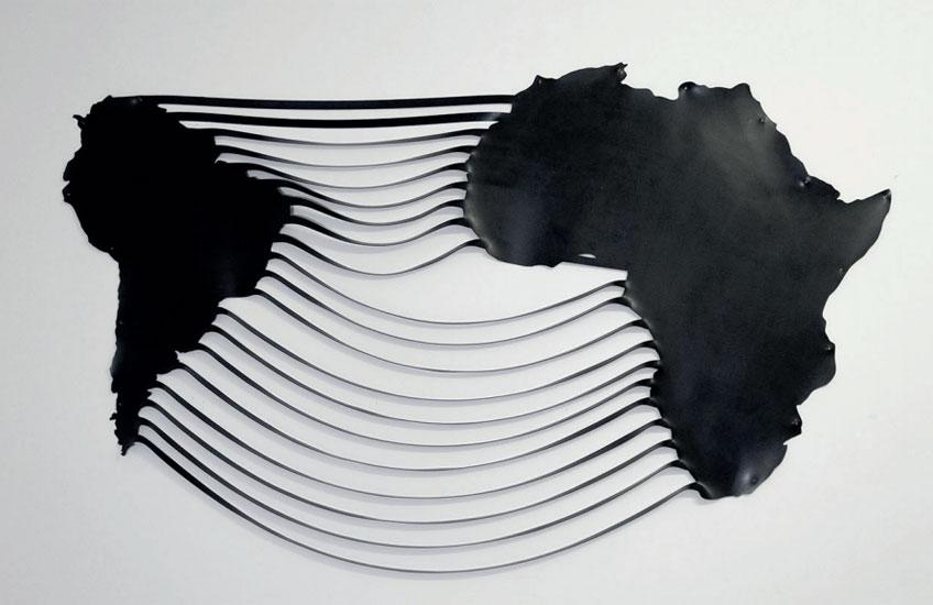 Marina Camargo. Soft-map (Atlántico Sur), 2020