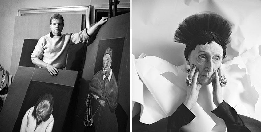 Cecil Beaton. Francis Bacon, 1960 ©The Cecil Beaton Studio Archive at Sotheby's. Cecil Beaton. Edith Sitwell, 1962 ©The Cecil Beaton Studio Archive at Sotheby's