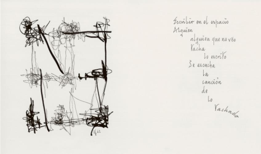 León Ferrari. Escrito en el aire, 1964. Fundación Augusto y León Ferrari Arte y Acervo