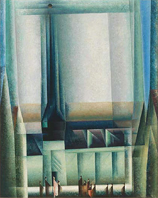 Lyonel Feininger. Gelmeroda VIII, 1921. Whitney Museum of American Art, Nueva York. © Whitney Museum, N.Y.