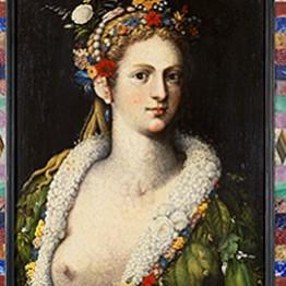 Giuseppe Arcimboldo. Flora meretrix, c 1590. Colección particular