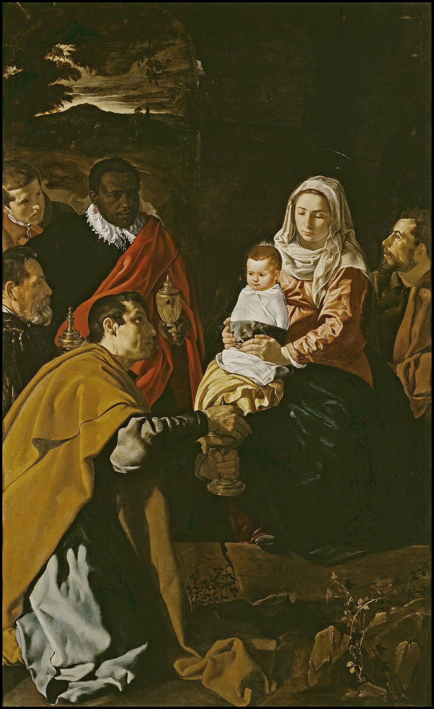 Velázquez. Adoración de los Reyes Magos, 1629.  Madrid, Museo Nacional del Prado
