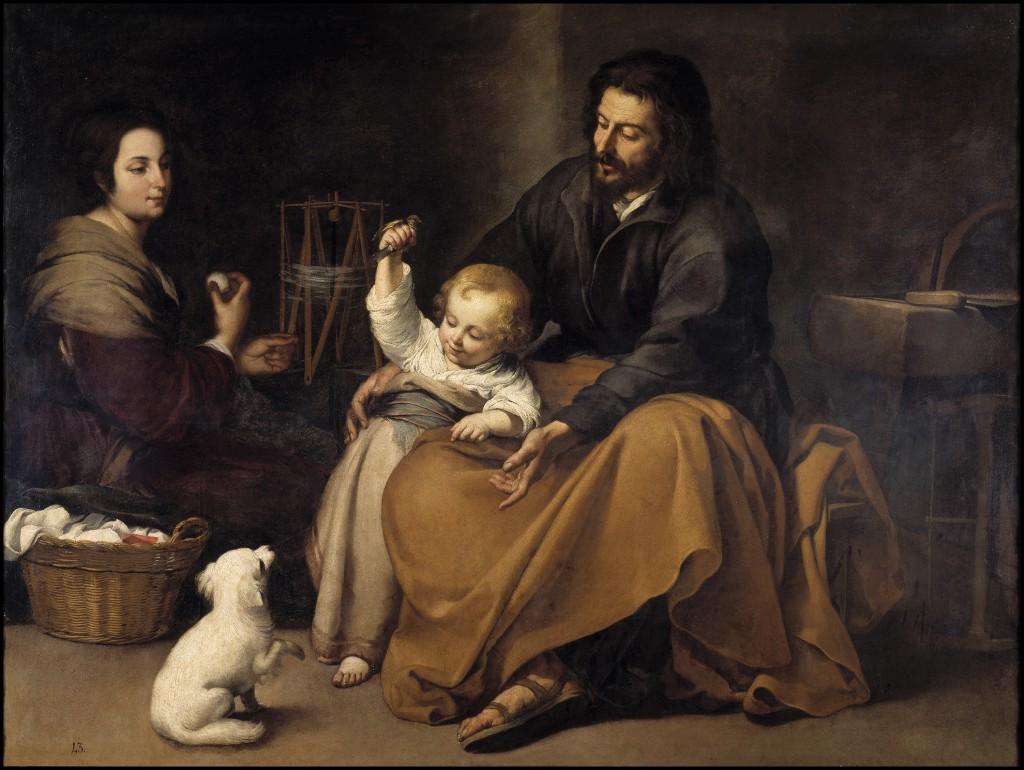 Murillo. Sagrada Familia del pajarito, hacia 1650. Madrid, Museo Nacional del Prado
