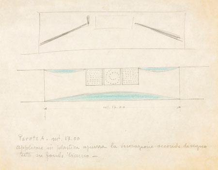 Lucio Fontana. Progetto per ambientazione Trinità, 1966. © Fondazione Lucio Fontana