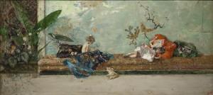 Mariano Fortuny. Los hijos del pintor en el salón japonés, 1874. Museo Nacional del Prado