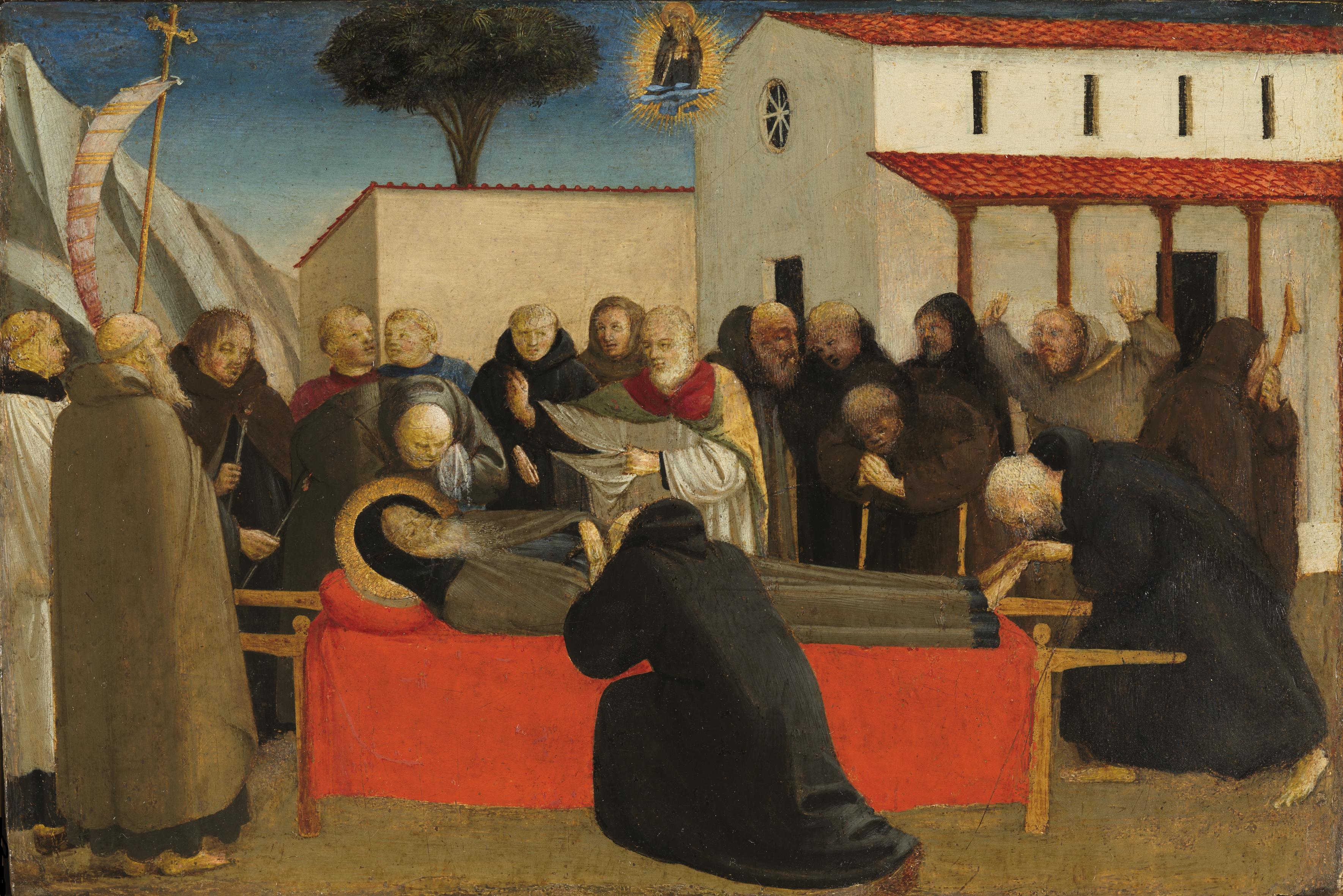 Fra Angelico. Funeral de San Antonio abad, hacia 1426-1430