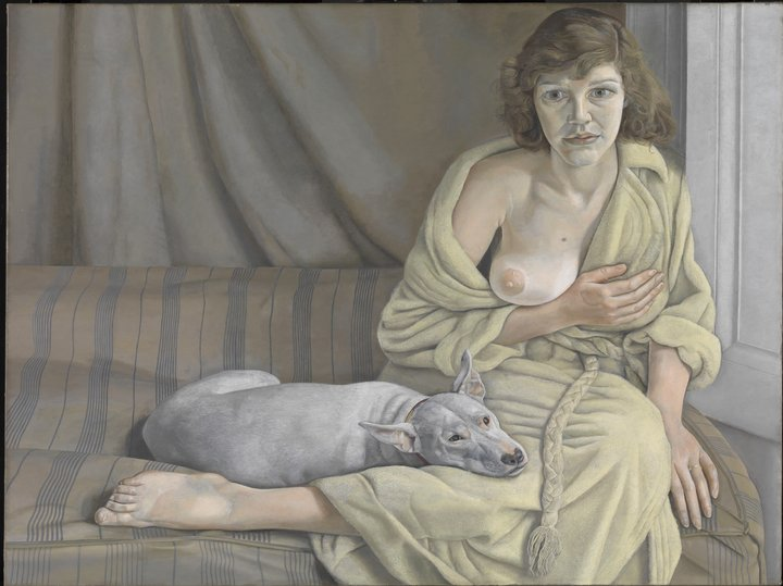 Lician Freud. Girl with a White Dog, 1950-1951. Tate