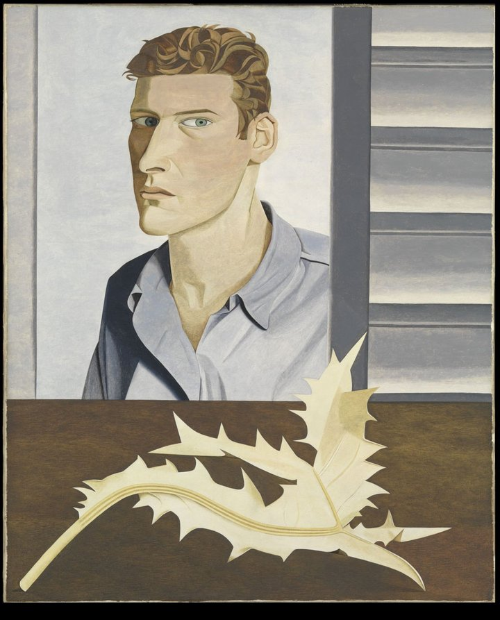 Lucian Freud. Man with a Thistle (Self-Portrait), 1946. The Lucian Freud Archive