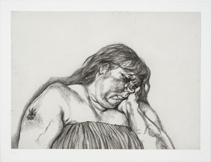 Lucian Freud. Woman with an Arm Tattoo, 1996. The Lucian Freud Archive