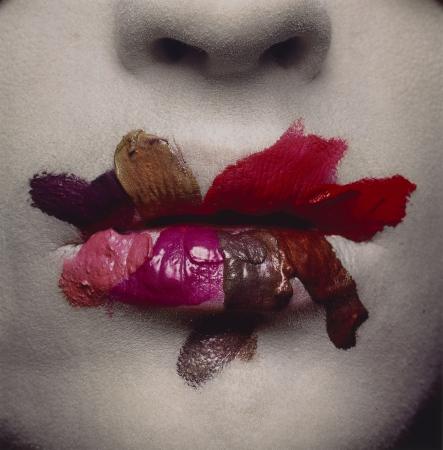 Irving Penn. Mouth (for L'Oréal), New York, 1986. © The Irving Penn Foundation