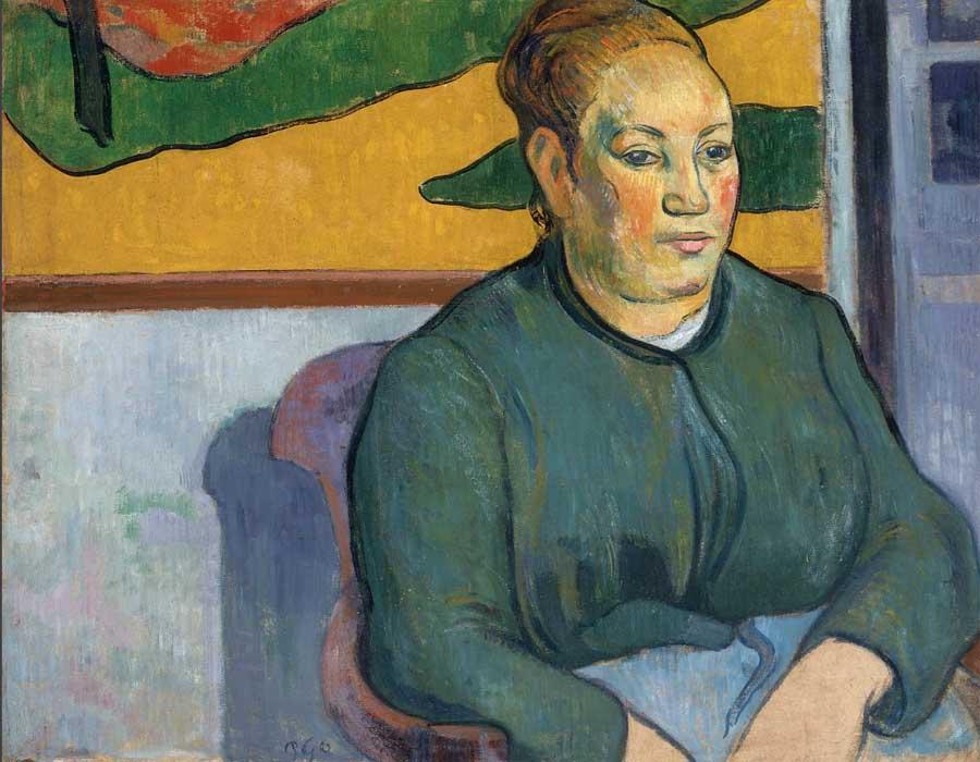 Gauguin. Retrato de Madame Roulin, 1888. Saint Louis Art Museum