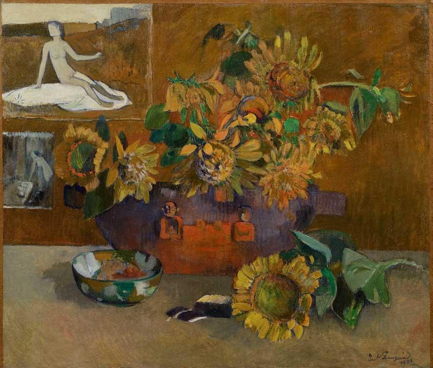 Gauguin. Naturaleza muerta con 'Hope, 1901. Colección privada, Milán