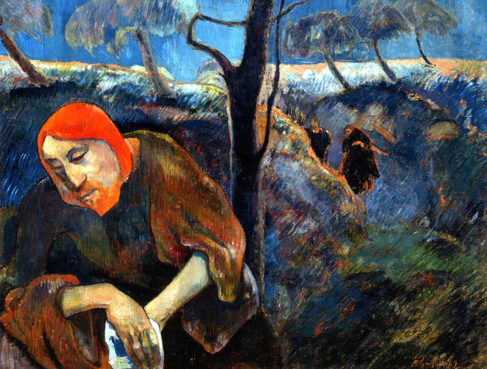 Gauguin. Cristo en el Monte de los Olivos, 1889. Norton Museum of Art