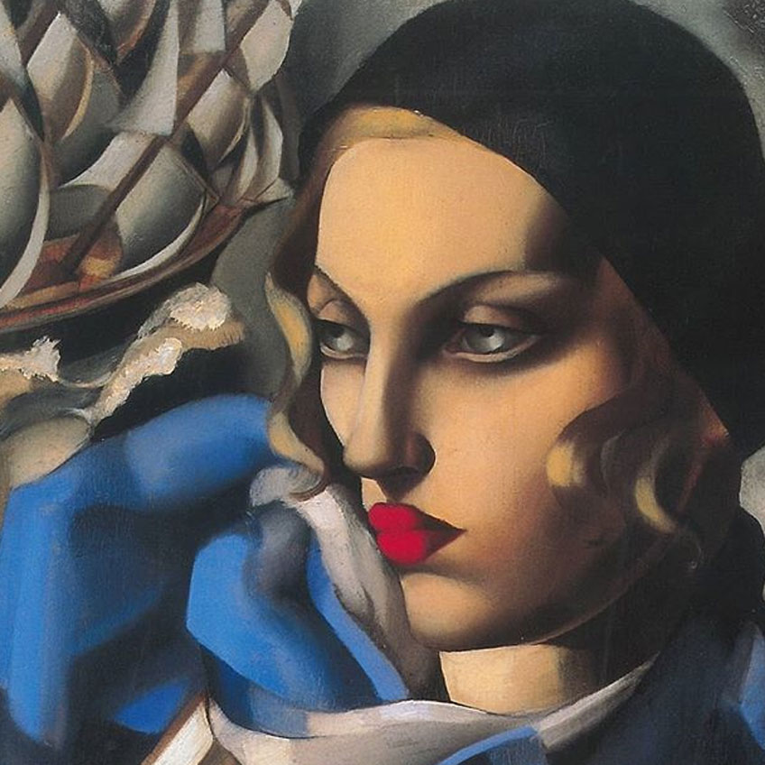 Tamara de Lempicka. L'écharpe bleue, 1930. © Tamara Art Heritage / ADAGP, Paris/ VEGAP, Madrid, 2018