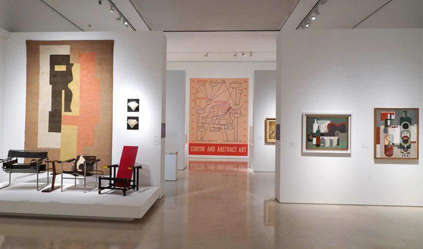 """Vista de la exposición """"Genealogías del arte, o la historia del arte como arte visual"""" © Museo Picasso Málaga"""