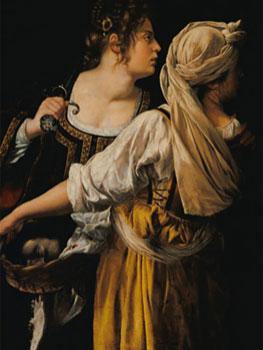Artemisia Gentileschi. Judith y su doncella, hacia 1613. Gallerie degli Uffizi