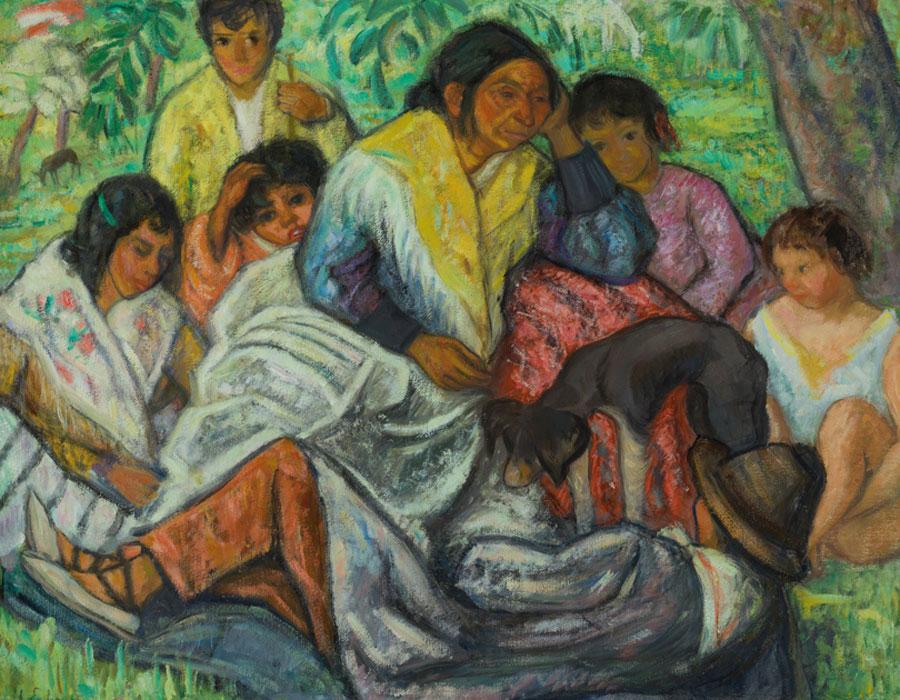 Juan de Echevarría. Familia gitana, Palencia, 1925. Museo Nacional del Prado. Donación Gerstenmaier