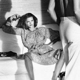 Helmut Newton. Woman Examining Man, Saint Tropez 1975. The J. Paul Getty Museum