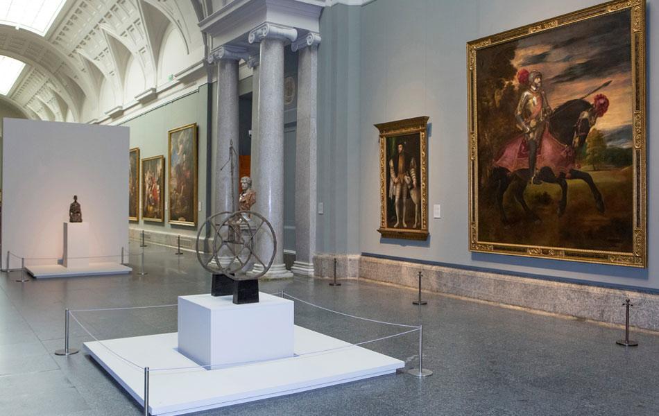 Imagen de las salas de exposición. © Alberto Giacometti Estate / VEGAP, Madrid, 2019 * Foto © Museo Nacional del Prado