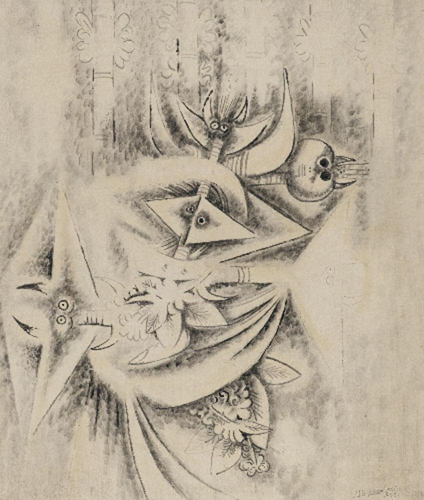 Wifredo Lam. Sin título, 1945