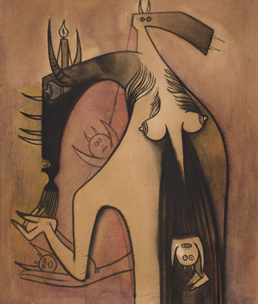 Wifredo Lam. Femme Cheval, 1948