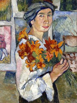 Natalia Goncharova. Bathers (panel izquierdo), 1922. Tretyakov Gallery, Moscú