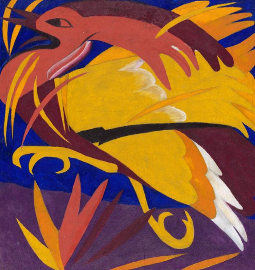 Natalia Goncharova. The Phoenix (Políptico The Harvest), 1911. Treatyakov Gallery, Moscú