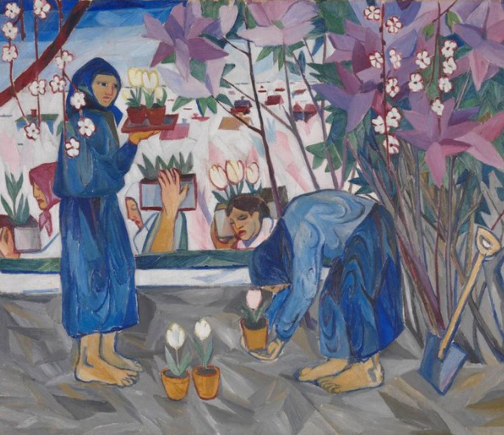 Natalia Goncharova. Gardening, 1908. Tate