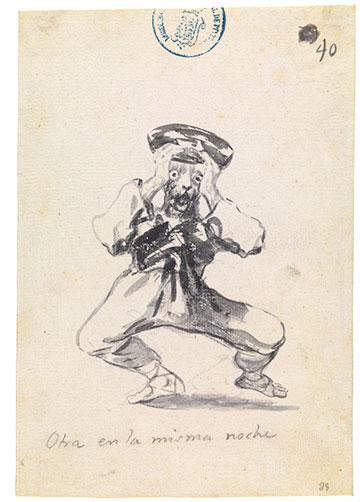 Francisco de Goya. Otra en la misma noche Cuaderno C, hoja 39, 1808-14
