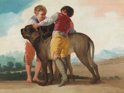 Francico de Goya. Niños con perros de presa, 1786. Madrid, Museo Nacional del Prado