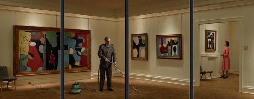 Rodney Graham. Vacuuming the Gallery, 1949