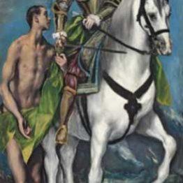El Greco. San Martín y el pobre, 1597-1599. National Gallery of Art, Washington