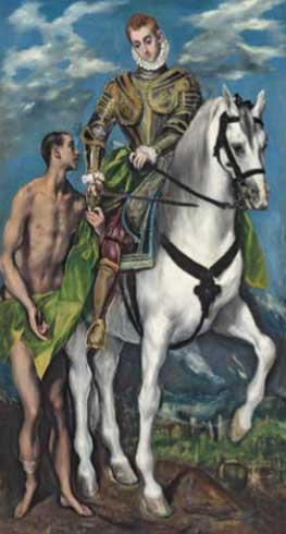El Greco. San Martín y el pobre, 1597-1599. National Gallery of Art, Washington