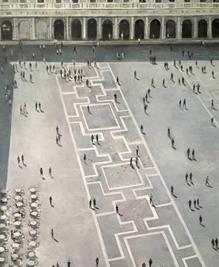 Federico Granell. Piazza San Marco desde el campanile (fragmento)