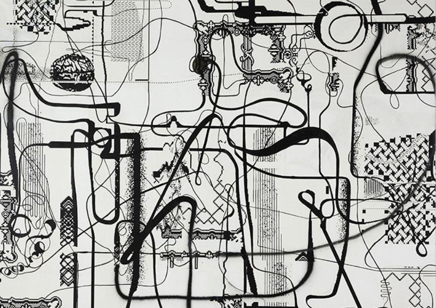 Albert Oehlen. Sin título, 2007. Colección Pinault