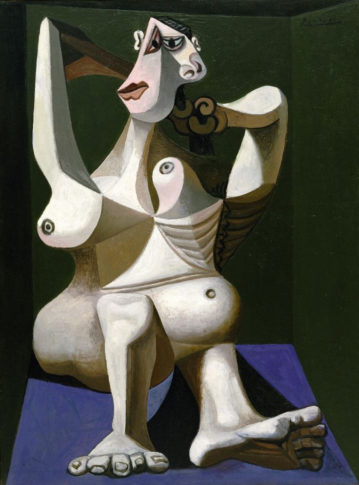 Picasso. Woman dressing her hair, 1940