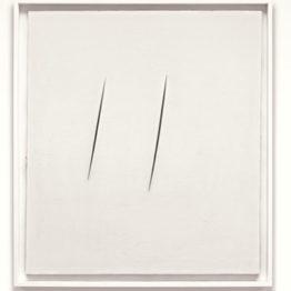 Lucio Fontana. Concepto espacial, Esperas (Concetto spaziale, Attese), 1959. Colección Nahmad © Fondazione Lucio Fontana, Bilbao, 2019