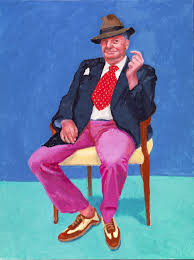 David Hockney. Barry Humphries, 26, 27 y 28 de marzo de 2015. © David Hockney. Fotografía: Richard Schmidt