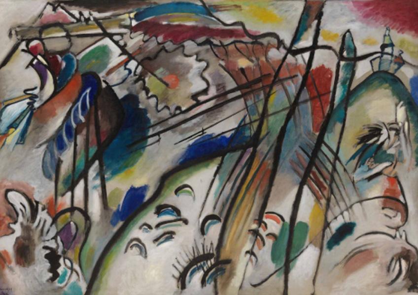 Kandinsky. Improvisación 28 (segunda versión) , 1912. Solomon R. Guggenheim Museum, Nueva York, Colección Fundacional Solomon R. Guggenheim