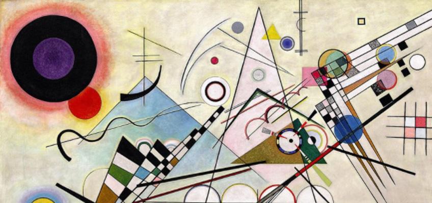 Kandinsky. Composición 8 , 1923. Solomon R. Guggenheim Museum, Nueva York, Colección Fundacional Solomon R. Guggenheim