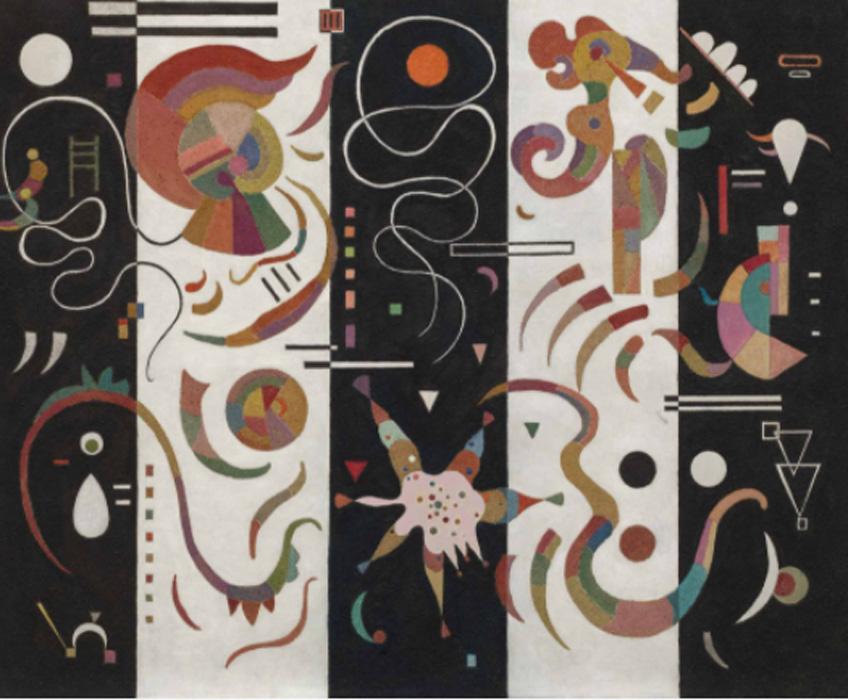 Kandinsky. A rayas, 1934. Solomon R. Guggenheim Museum, Nueva York, Colección Fundacional Solomon R. Guggenheim