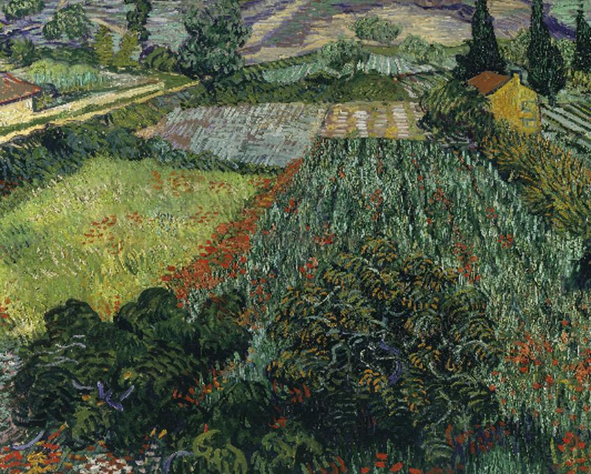 Vincent van Gogh. Campo de amapolas, 1889. Kunsthalle Bremen – Der Kunstverein in Bremen