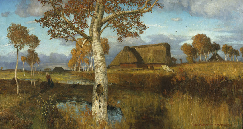 Otto Modersohn. Otoño en el pantano, 1895. Kunsthalle Bremen – Der Kunstverein in Bremen