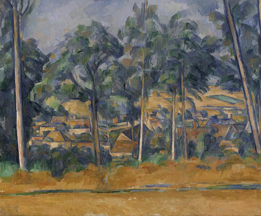 Paul Cézanne. Pueblo entre árboles (Marines), hacia 1898 Kunsthalle Bremen – Der Kunstverein in Bremen