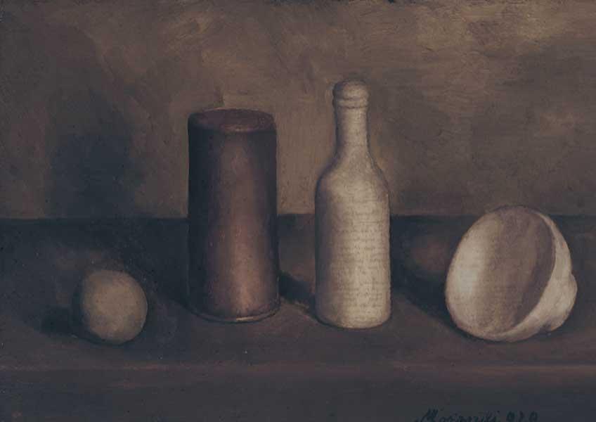 Giorgio Morandi. Naturaleza muerta (Natura morta), 1920. Istituzione Bologna Musei/Museo Morandi © Giorgio Morandi, VEGAP, Bilbao, 2019