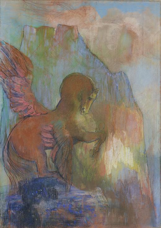 Odilon Redon. Pegaso, hacia 1895-1900
