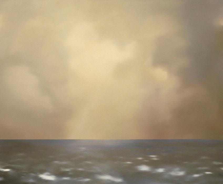 Gerhard Richter. Marina (nublado color oliva) [Seestück (oliv bewölkt)], 1969. Colección particular, Italia © Gerhard Richter, Bilbao, 2019