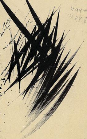 Hans Hartung. Sin título, 1955. Fondation Hartung-Bergman, Antibes