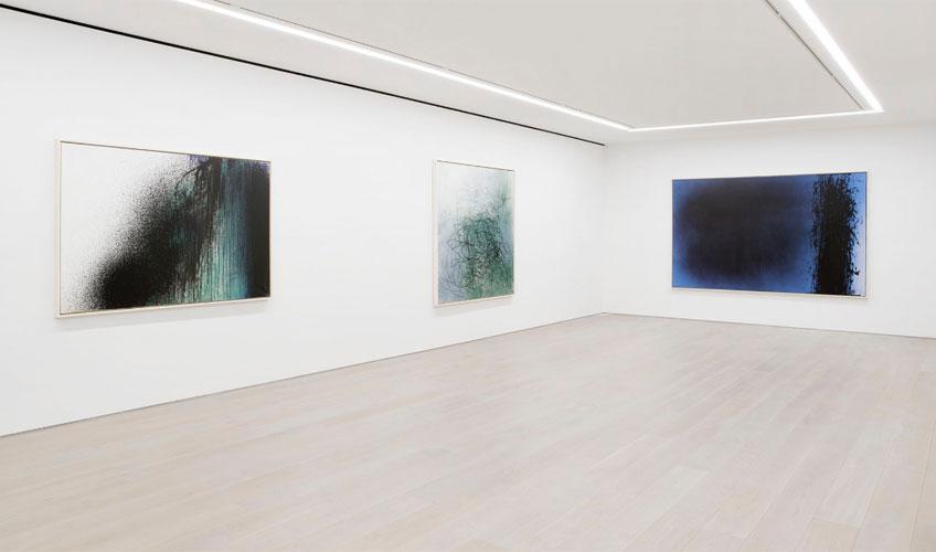 "Imagen de la exposición ""A Constant Storm. Works from 1922 to 1989"" en Perrotin New York"